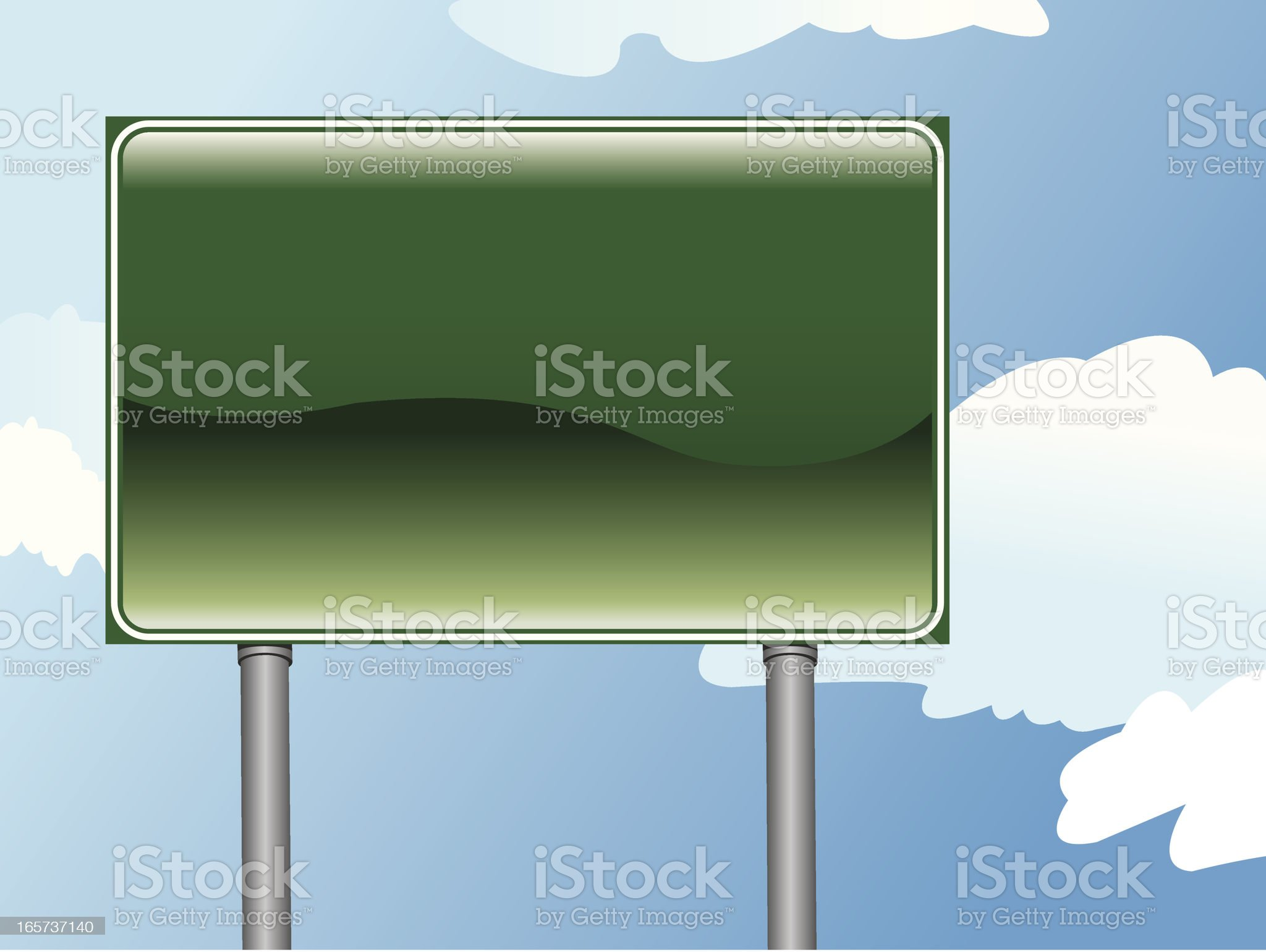 Shiny Highway Sign royalty-free stock vector art