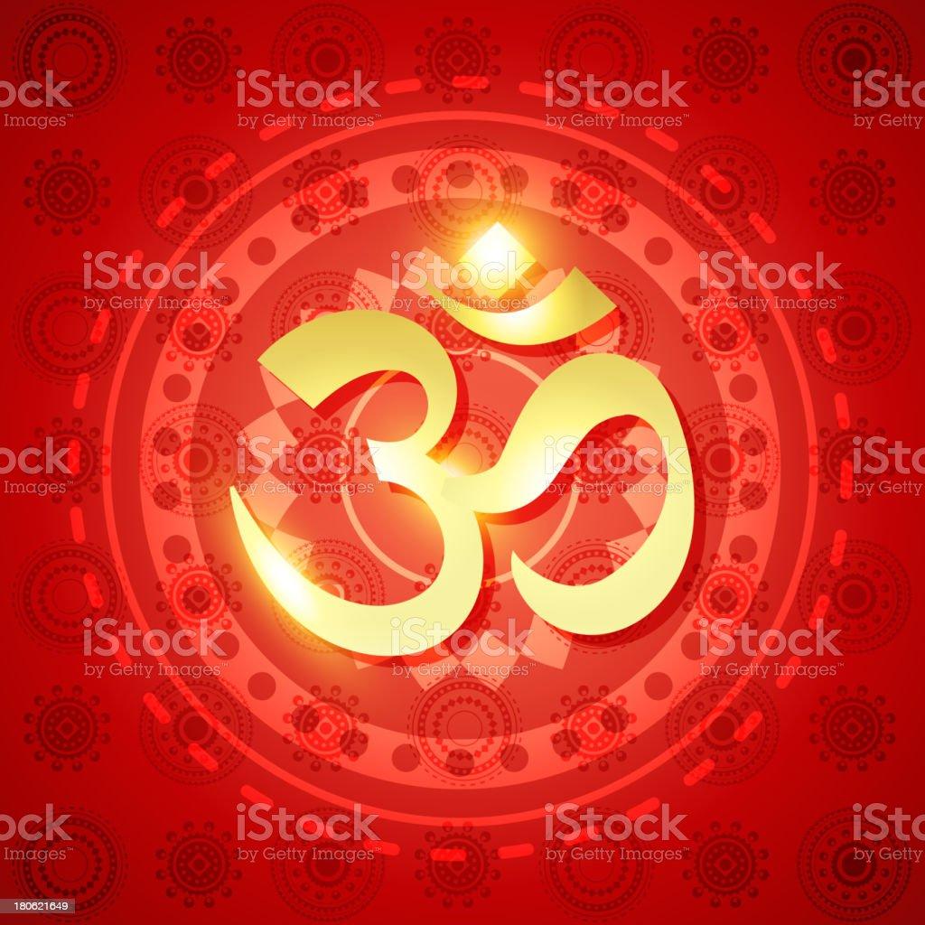 shiny hindu om royalty-free stock vector art