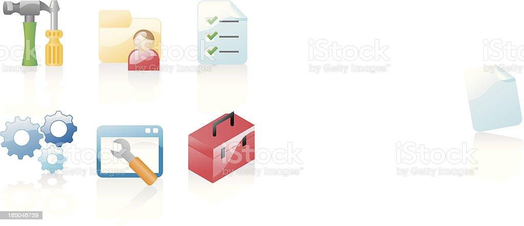 shiny icons: configuration royalty-free stock vector art