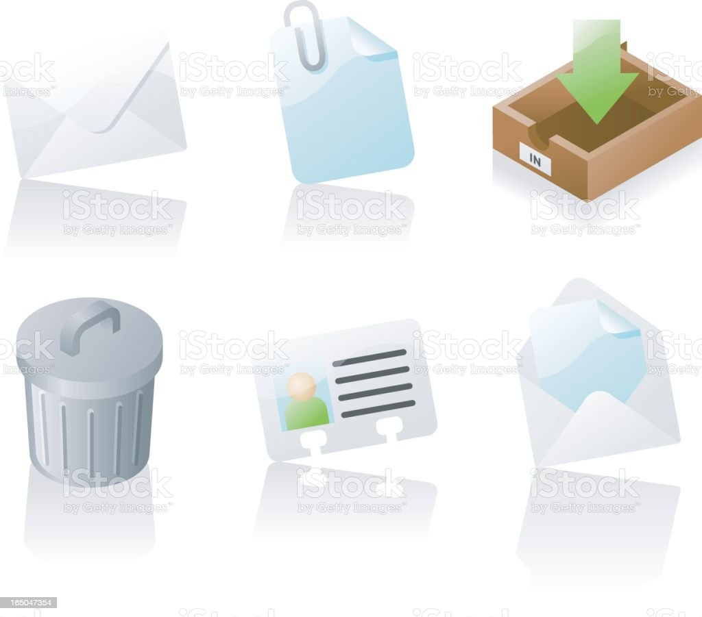 shiny icons: email royalty-free stock vector art