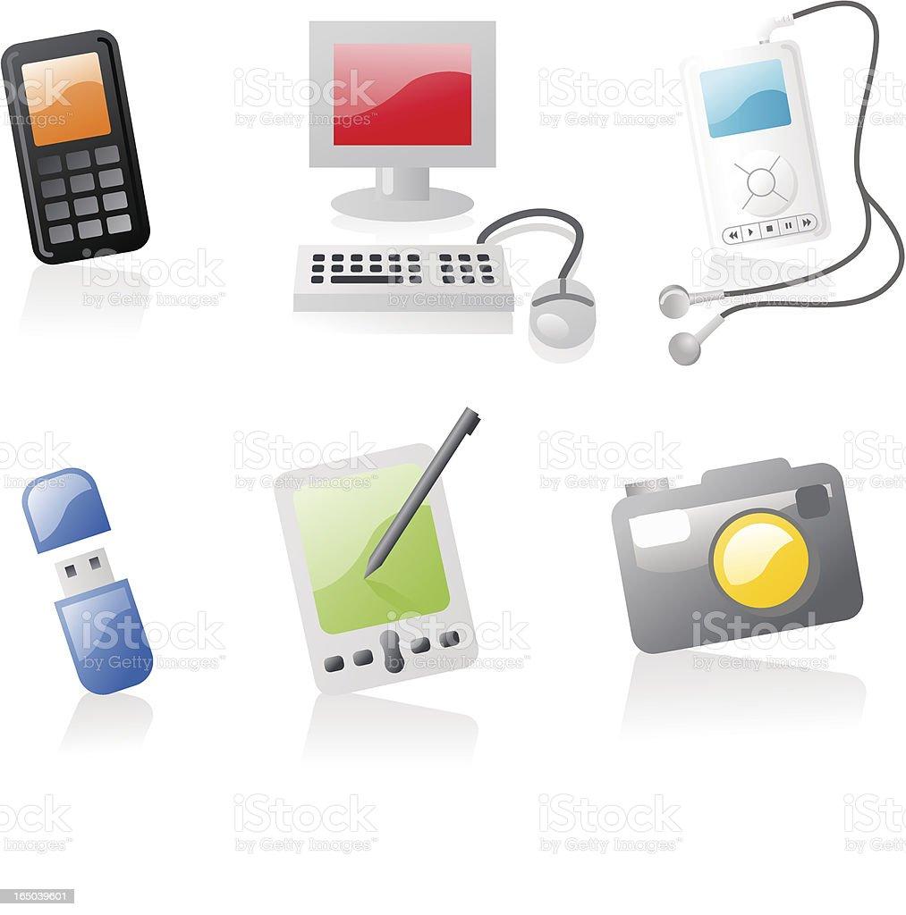 shiny icons: gadgets royalty-free stock vector art