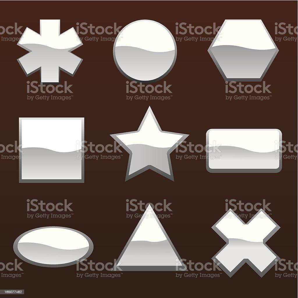Shiny Icons royalty-free stock vector art