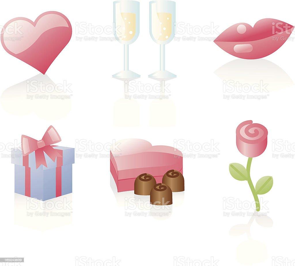 shiny icons:romance royalty-free stock vector art