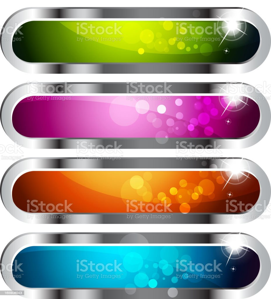 Shiny Internet Buttons royalty-free stock vector art