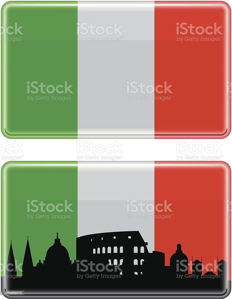 Shiny Italian Tile royalty-free stock vector art