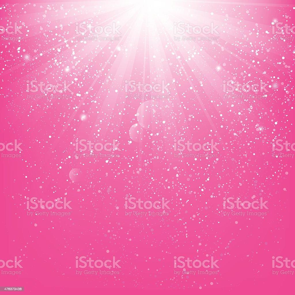 Shiny light on pink background vector art illustration