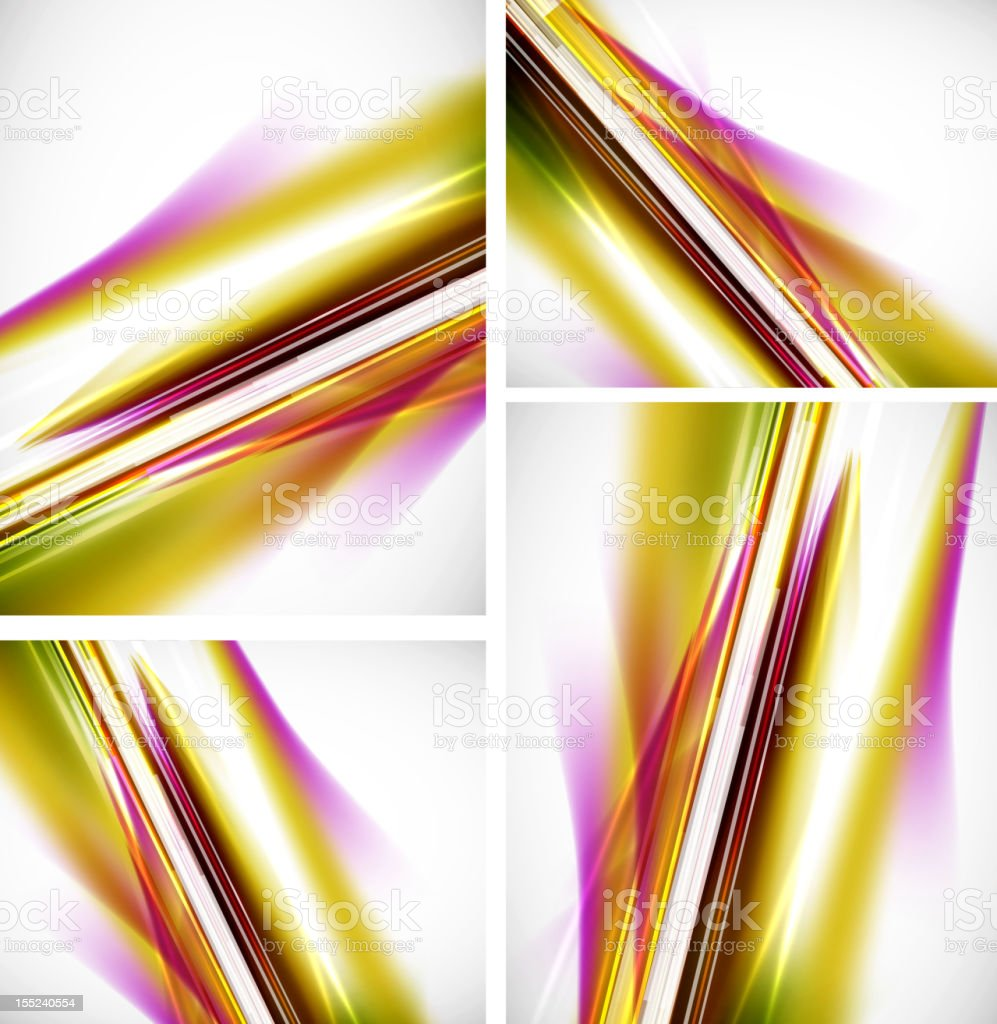 Shiny lines backgrounds royalty-free stock vector art