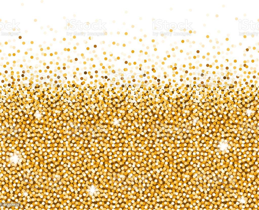 Shiny Metallic Gold Glitter Background vector art illustration