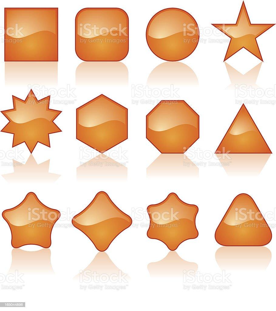 shiny orange shapes royalty-free stock vector art