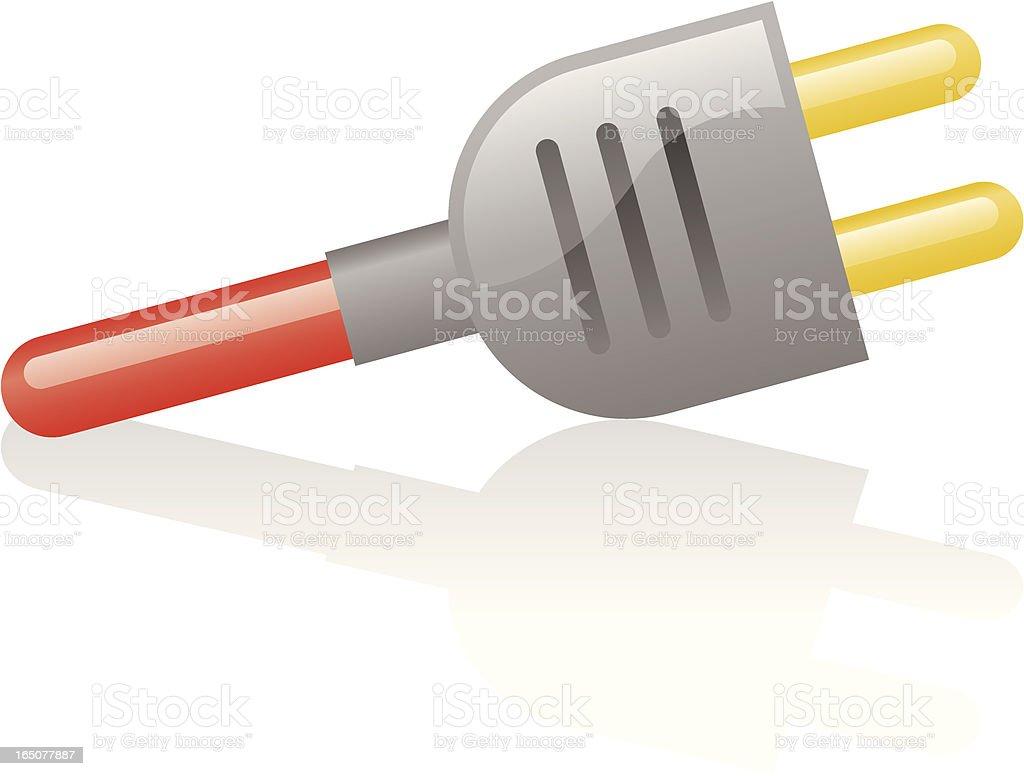 shiny plug vector art illustration