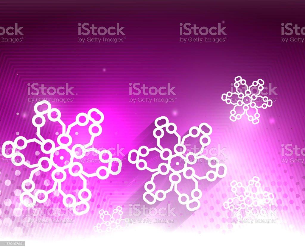 Shiny purple snowflakes background royalty-free stock vector art