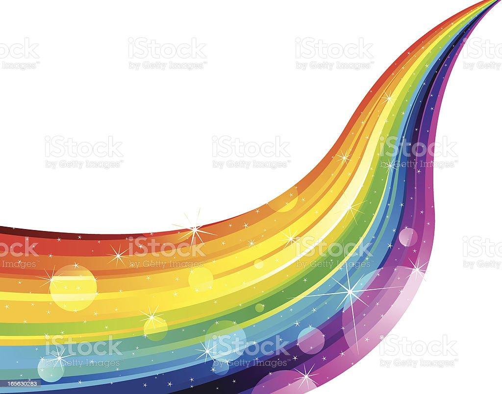 Shiny Rainbow on White vector art illustration