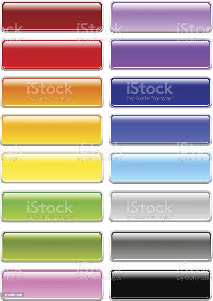 Shiny Rectangle Menu Buttons royalty-free stock vector art