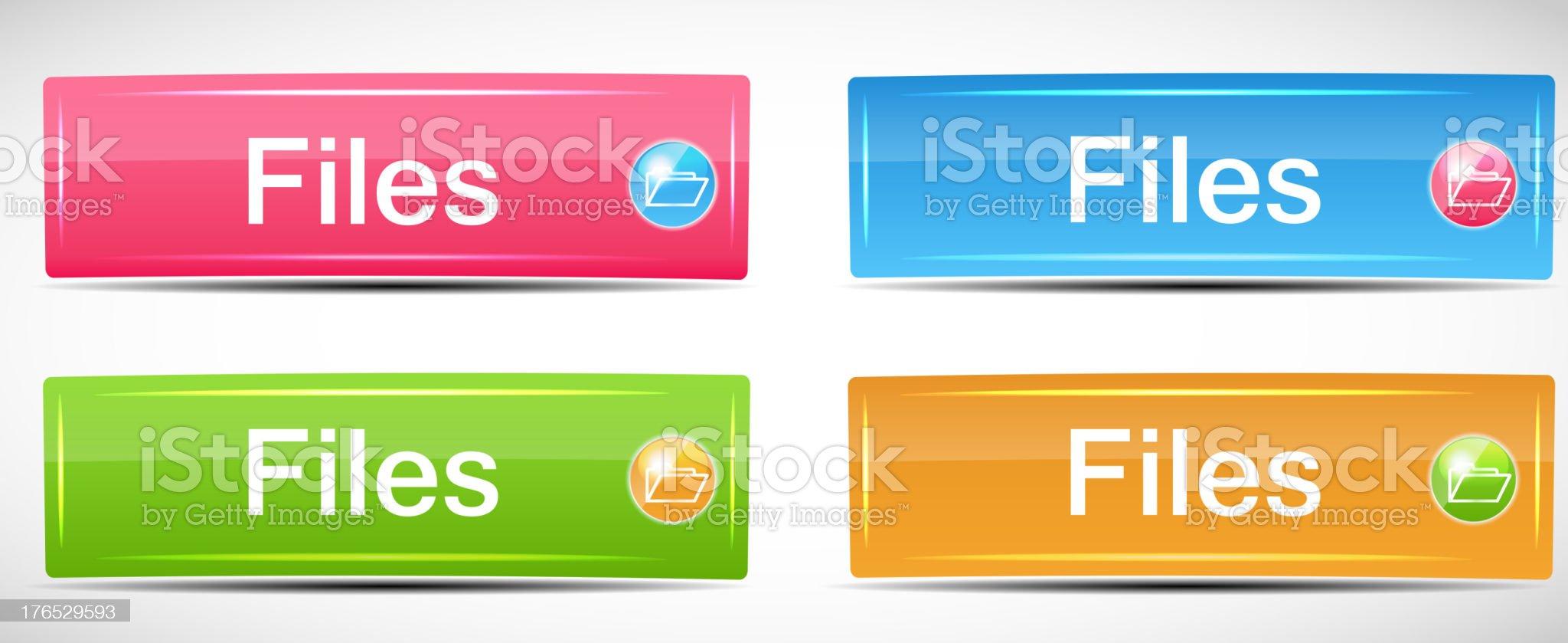 Shiny Rectangle Menu Buttons vector illustration royalty-free stock vector art