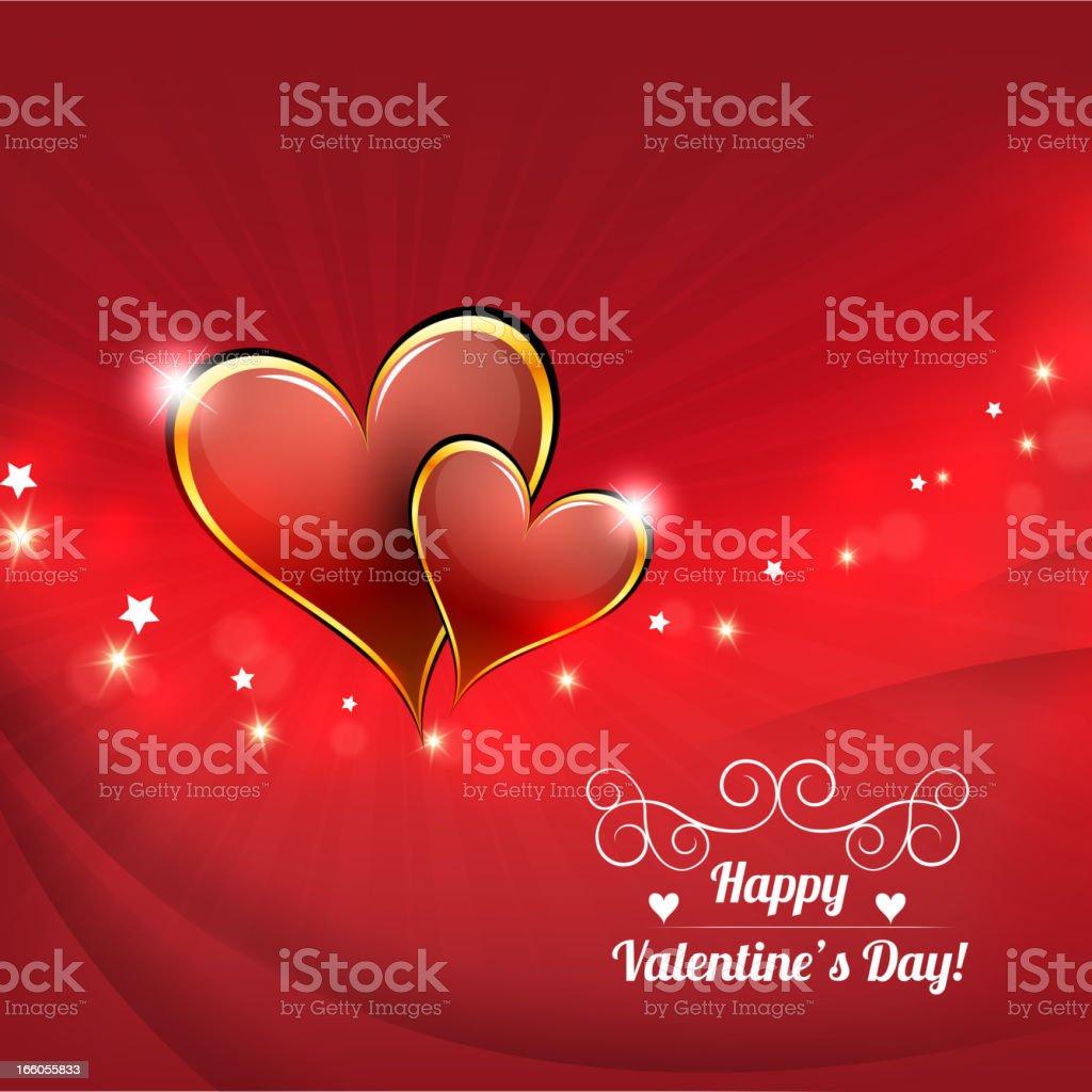 Shiny red hearts background royalty-free stock vector art