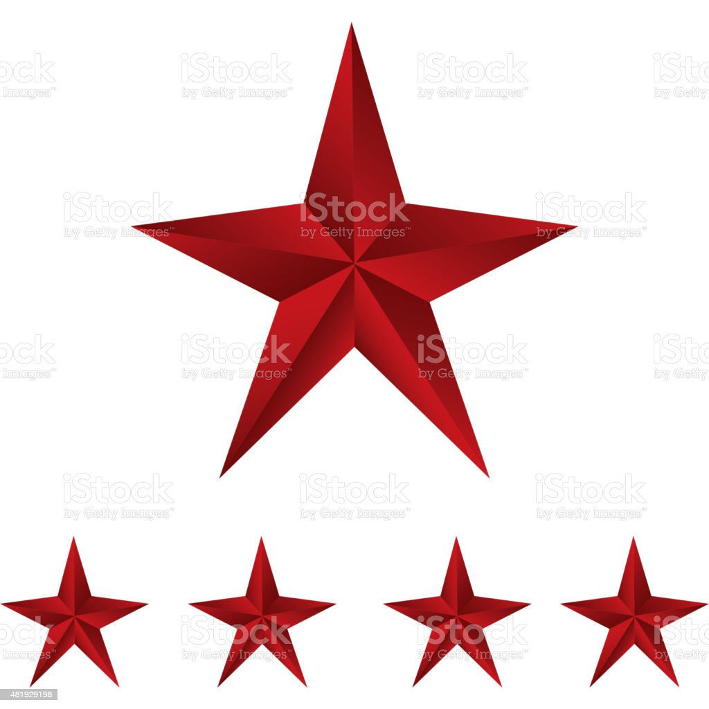 Shiny red stars. vector art illustration