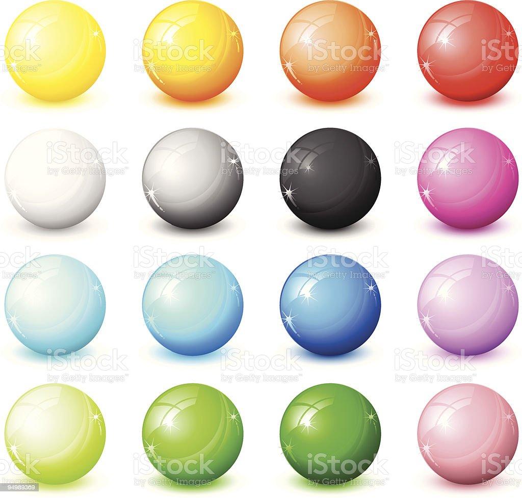 shiny round icons royalty-free stock vector art
