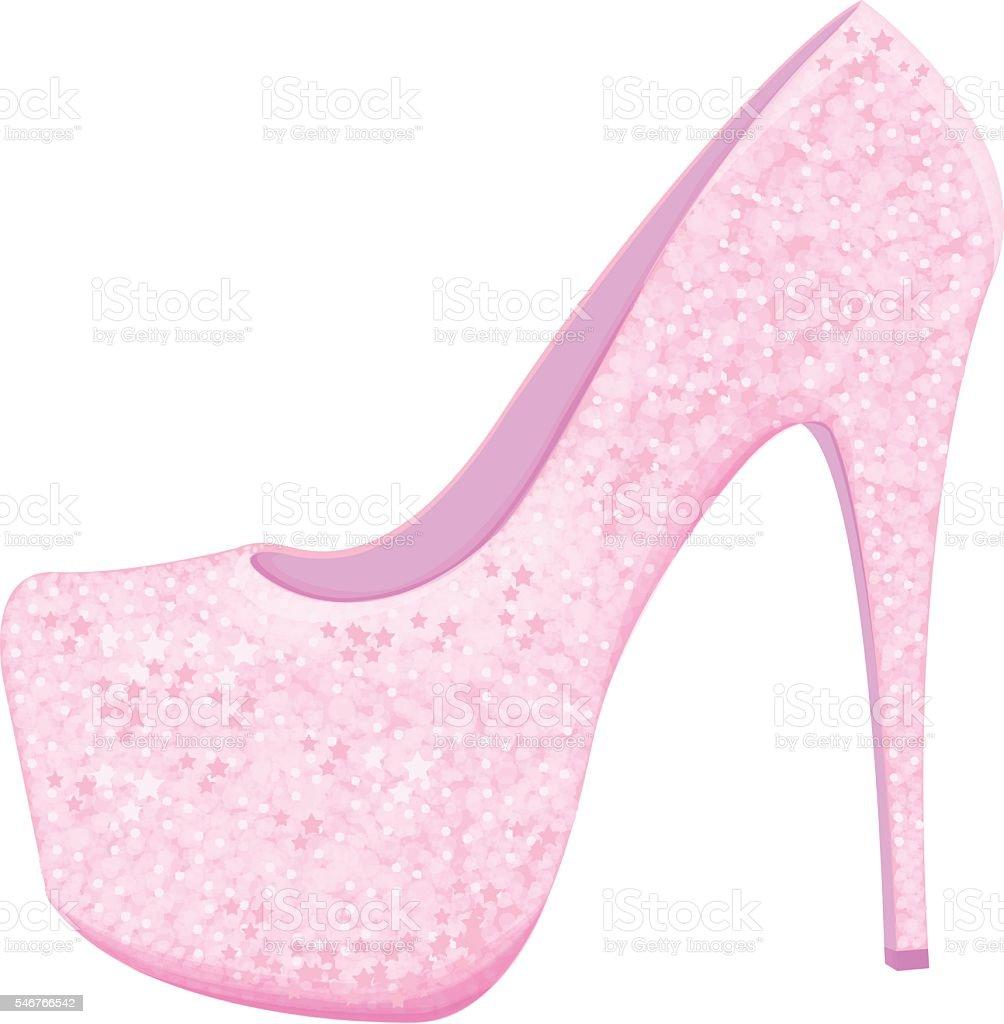 Shiny shoe vector art illustration