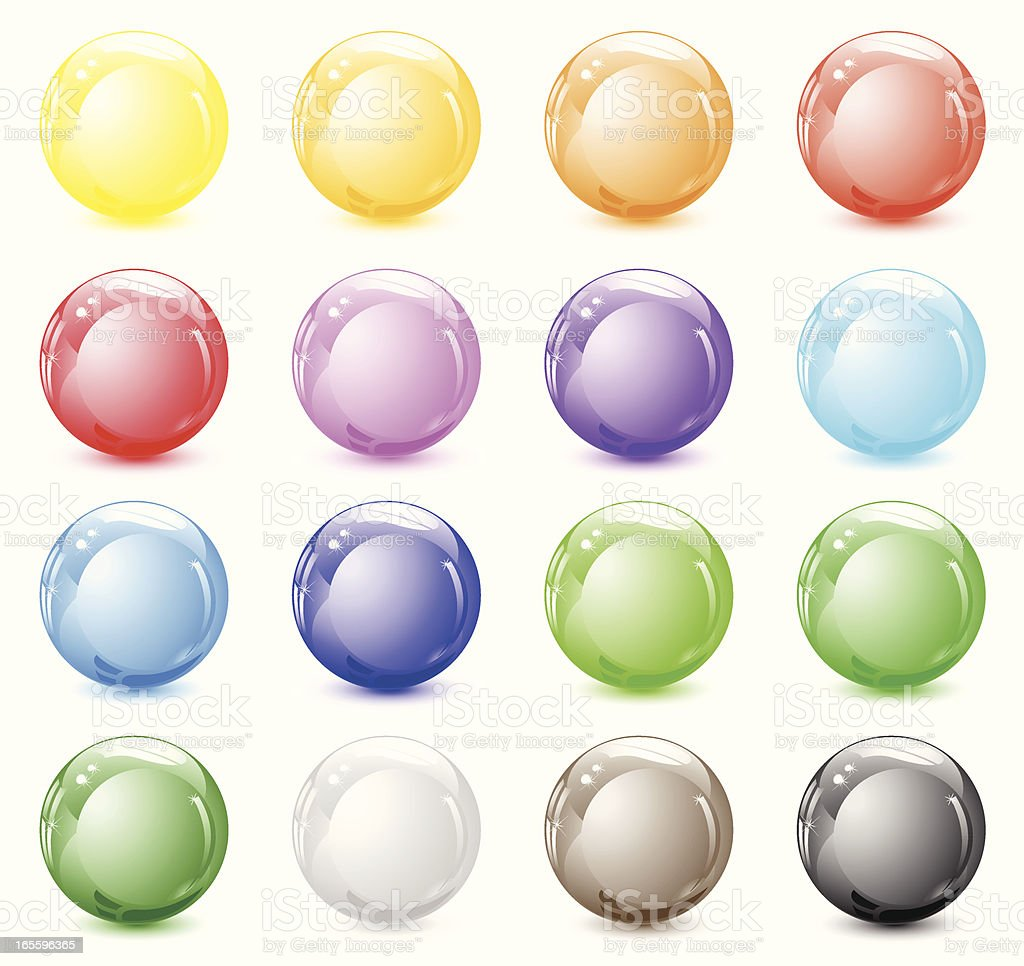 Shiny spheres royalty-free stock vector art