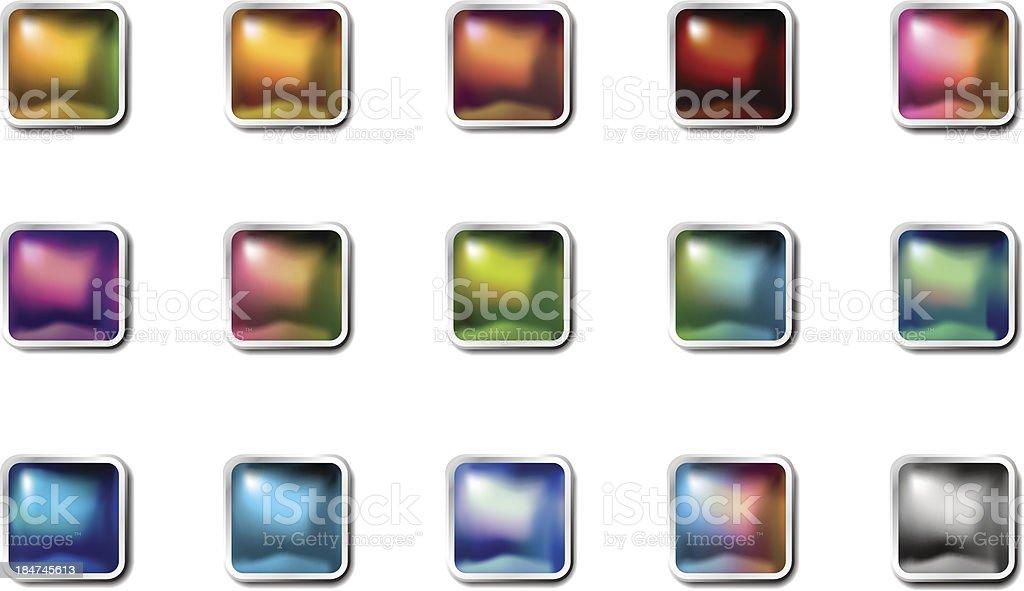 Shiny squared icons royalty-free stock vector art