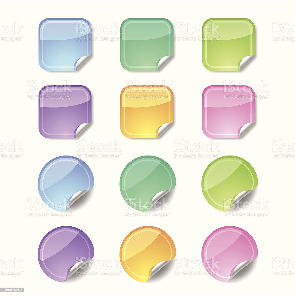 Shiny Stickers royalty-free stock vector art
