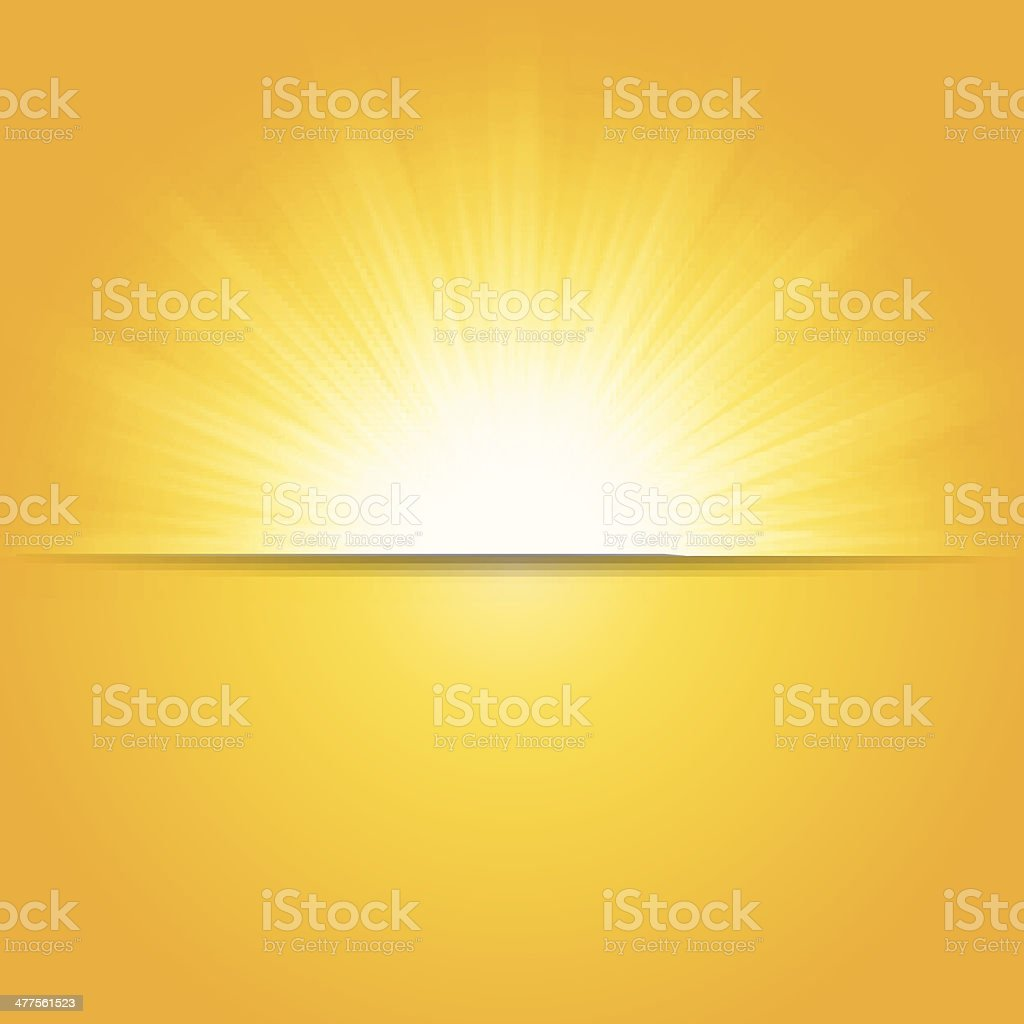 Shiny summer sun, vector illustration vector art illustration
