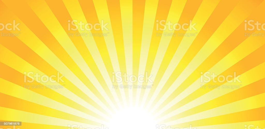 Shiny sun lights, summer banner, background vector art illustration