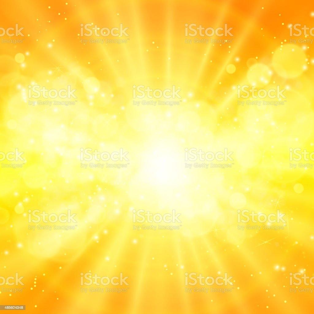 shiny sun vector, sunbeams, sunrays vector art illustration