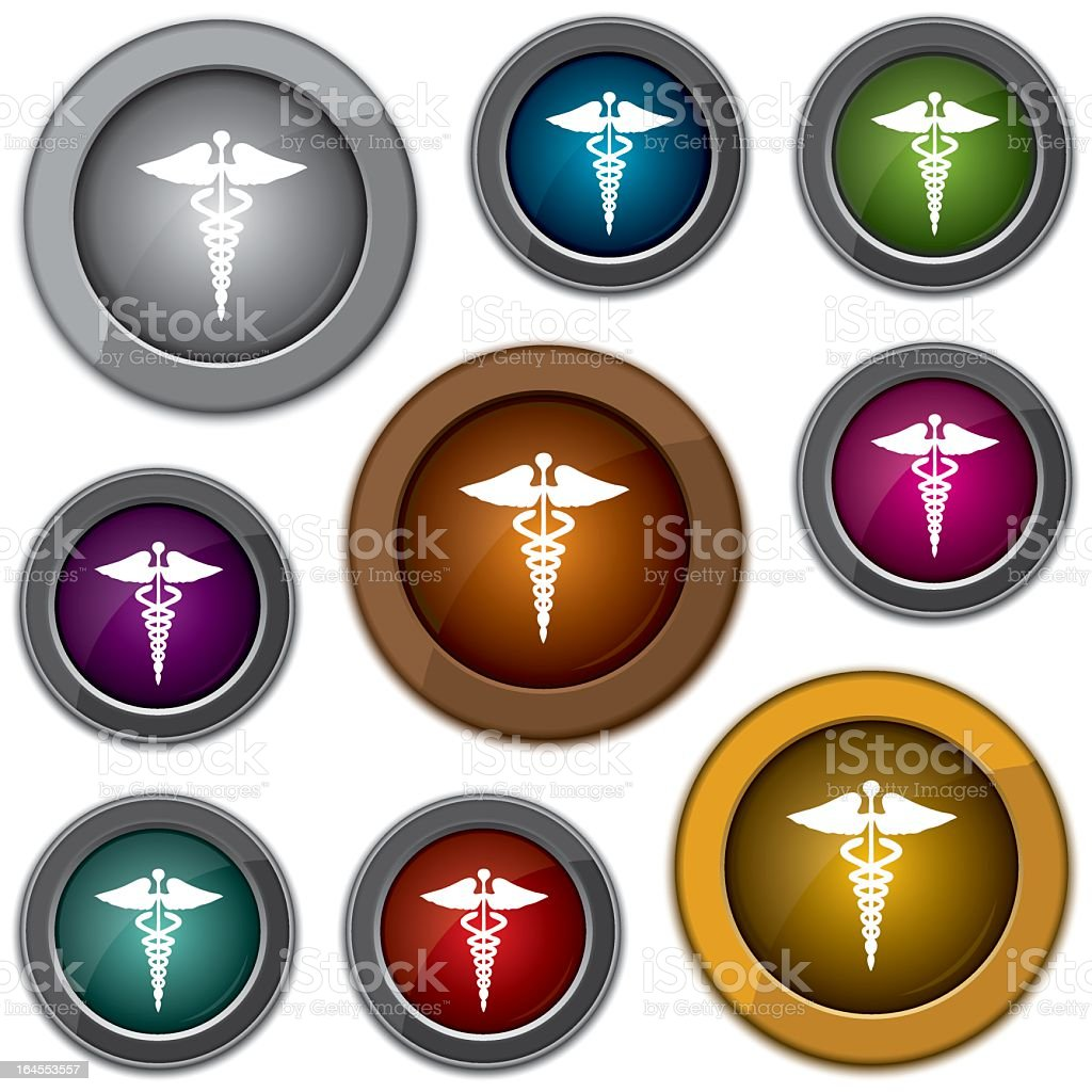 shiny textured medical web icons - vector illustration vector art illustration