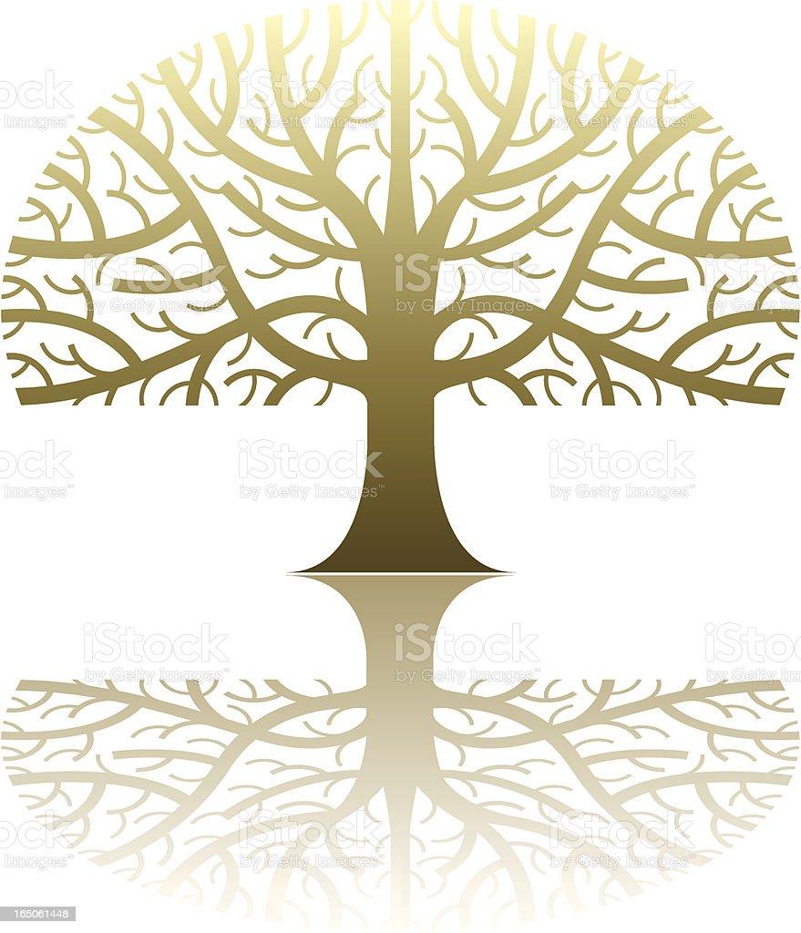 Shiny tree royalty-free stock vector art