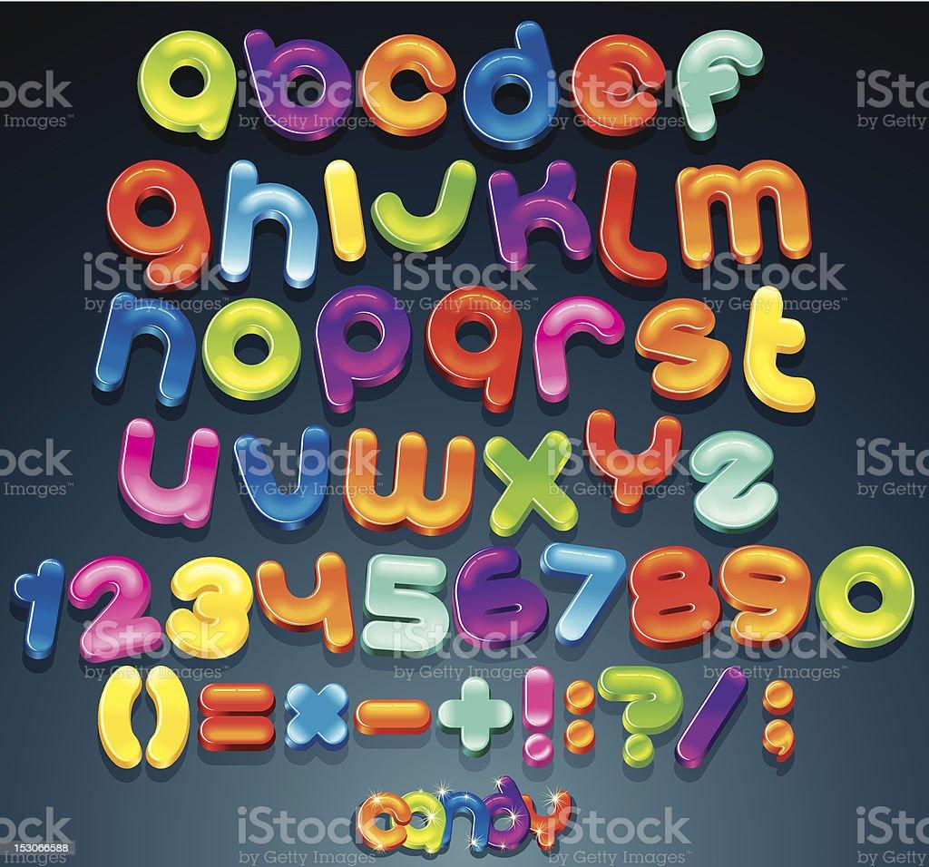 Shiny Vector Font royalty-free stock vector art
