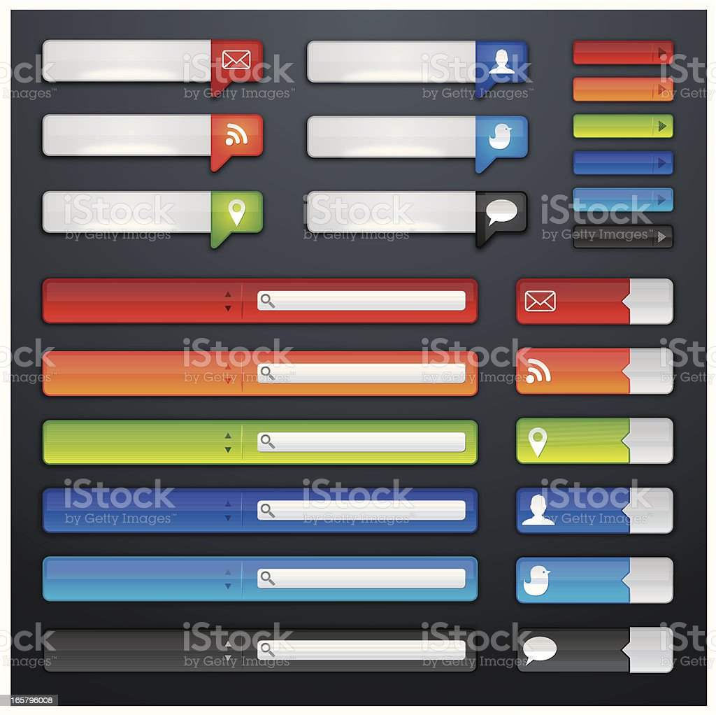 Shiny web buttons royalty-free stock vector art
