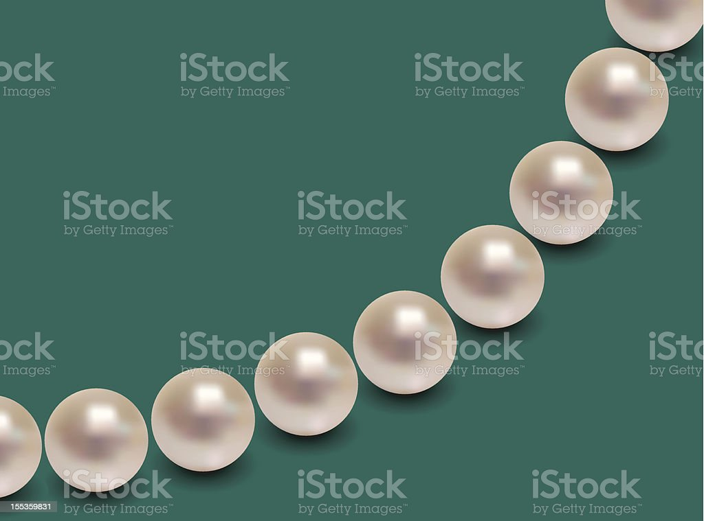 Shiny White Pearls royalty-free stock vector art