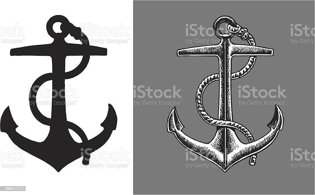 Ship Anchor vector art illustration