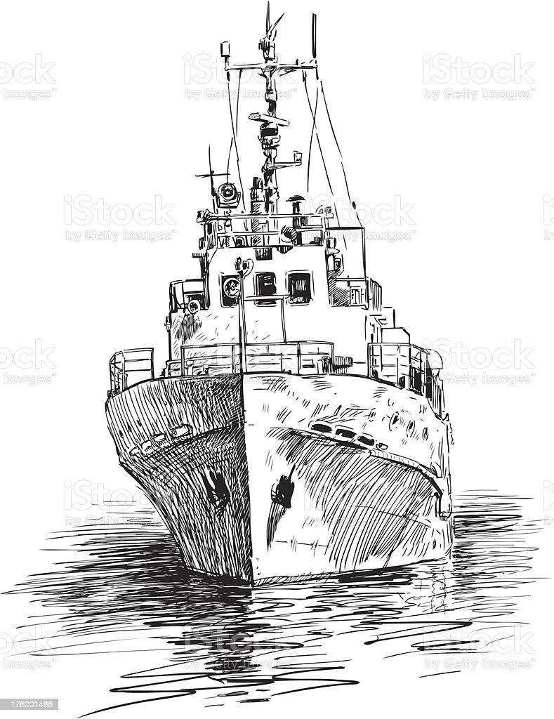 ship at berth royalty-free stock vector art