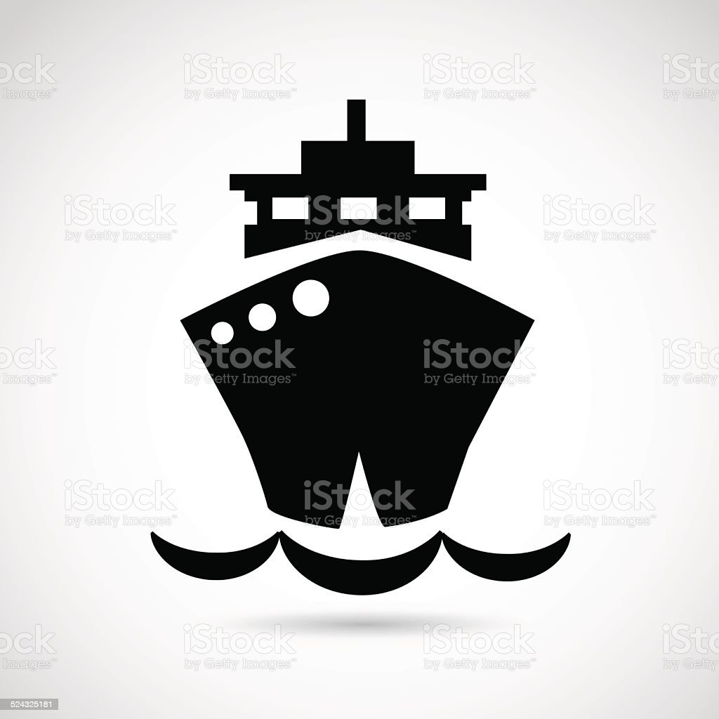 Ship icon isolated on white background. vector art illustration