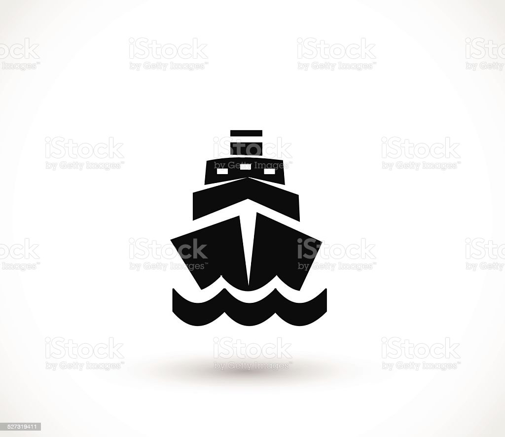 Ship icon isolated on white background. vector illustration vector art illustration