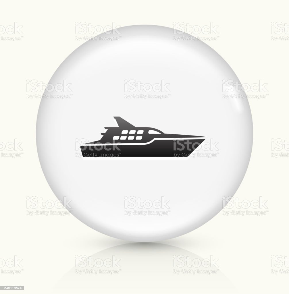 Ship icon on white round vector button vector art illustration