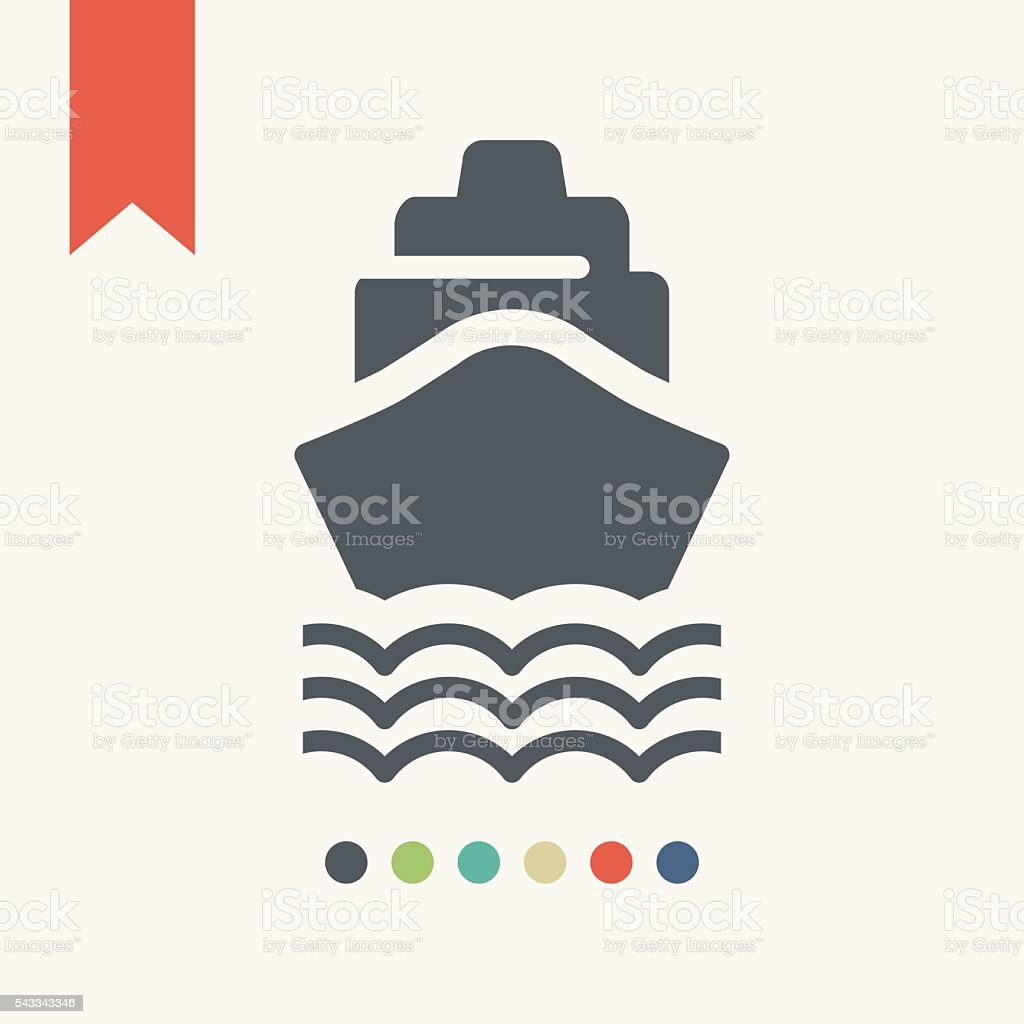 Ship icon. Shipping delivery symbol vector art illustration