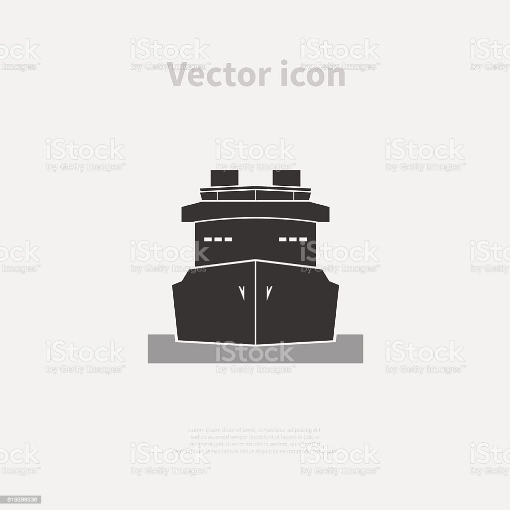 Ship icon vector art illustration