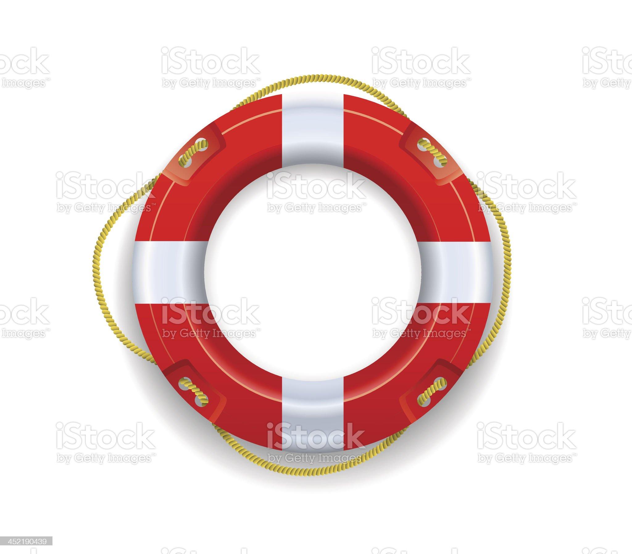 Ship lifebuoy. royalty-free stock vector art