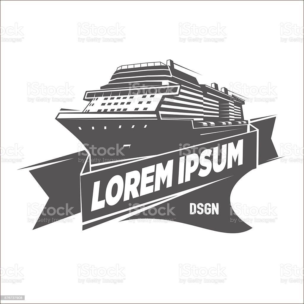 Ship Logo Template vector art illustration