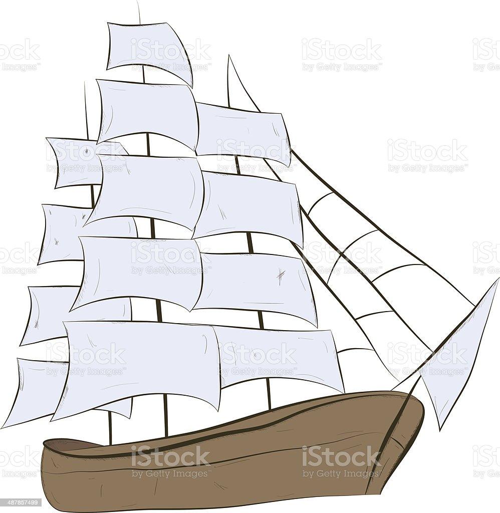 ship sailing royalty-free stock vector art