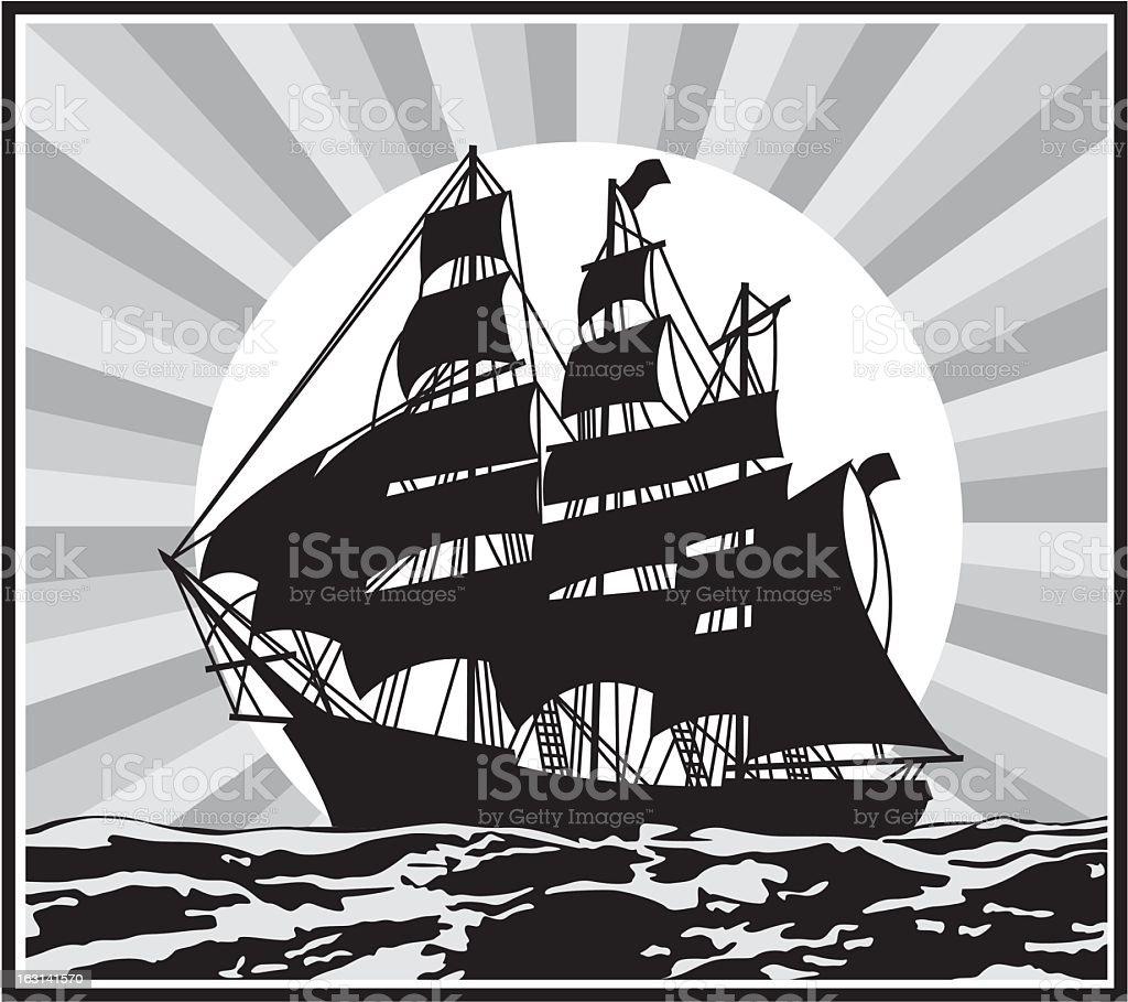 Ship Silhouette royalty-free stock vector art