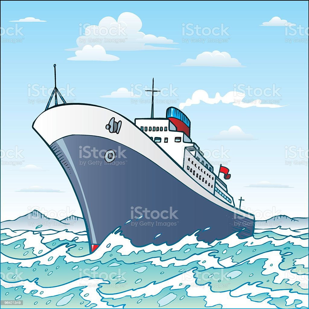 Ship vector art illustration