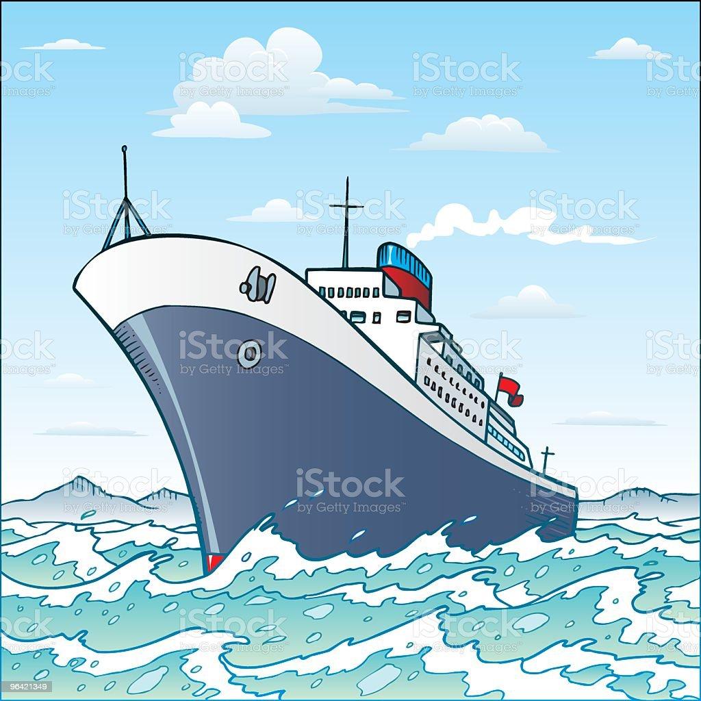 Ship vector art illustration