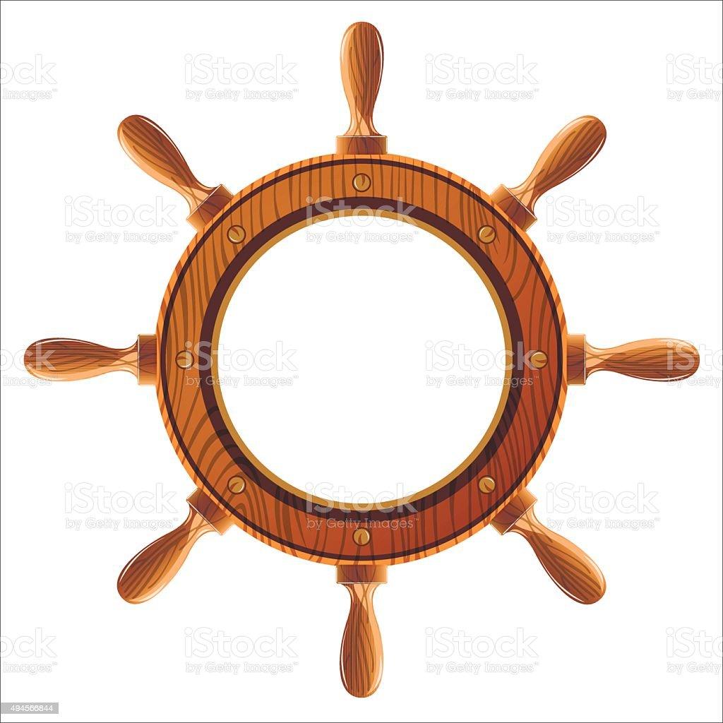 ship wheel vector art illustration