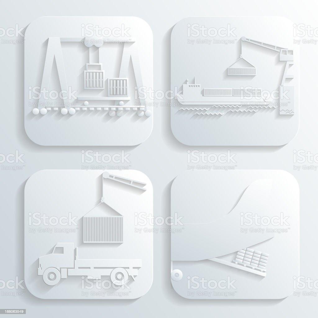 shipment set vector royalty-free stock vector art