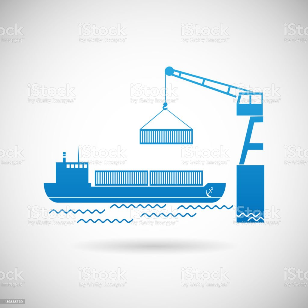 Shipmentl Symbol Shipping Icon Design Template Vector Illustration vector art illustration