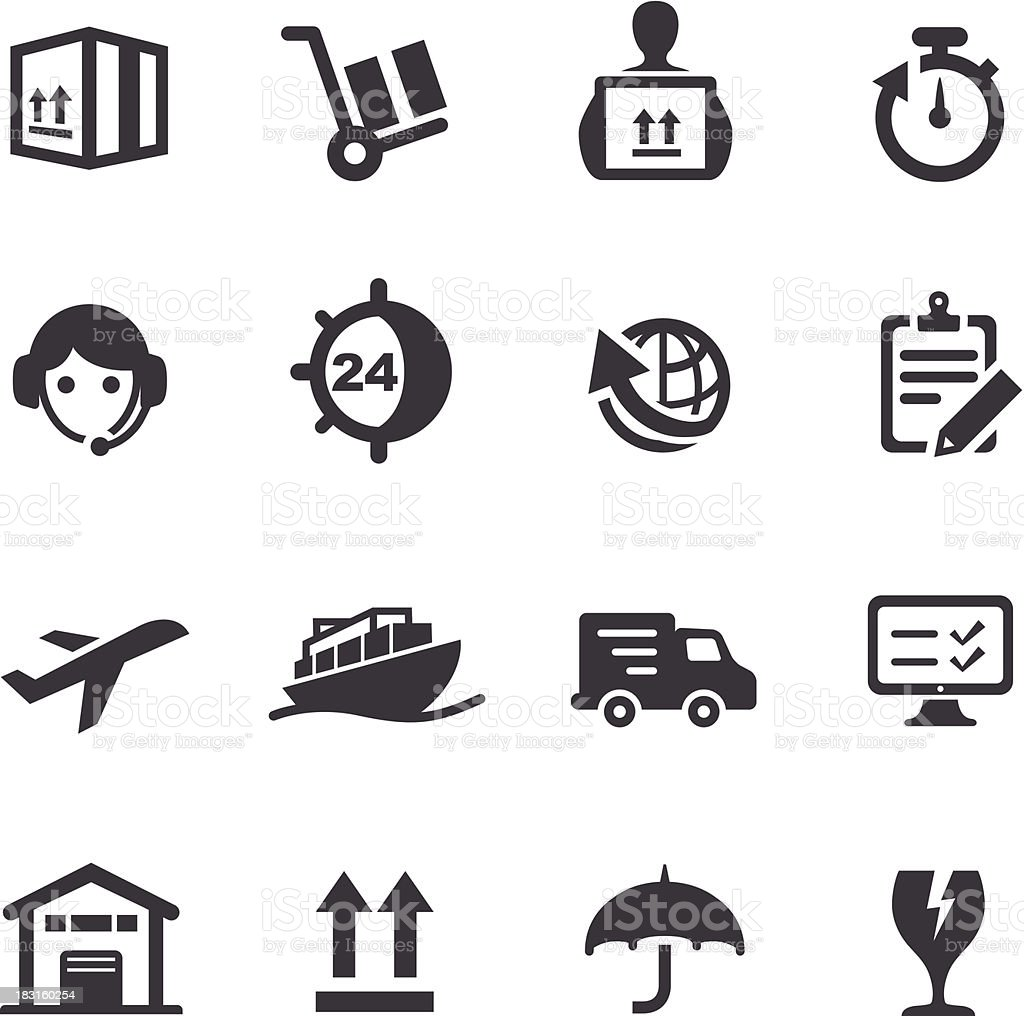 Shipping and Logistics Icons - Acme Series vector art illustration